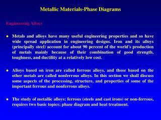 Metallic Materials-Phase Diagrams