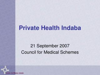 Private Health Indaba