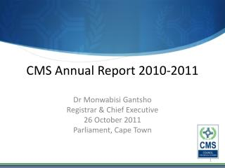 CMS Annual Report 2010-2011