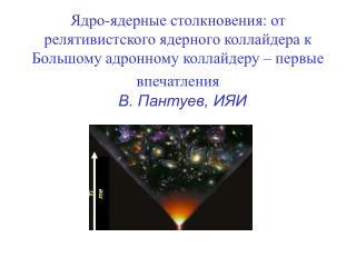 В. Пантуев, ИЯИ