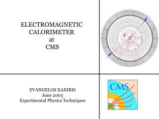 ELECTROMAGNETIC  CALORIMETER  at  CMS