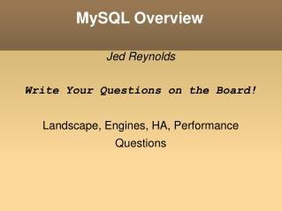 MySQL Overview