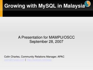 Growing with MySQL in Malaysia
