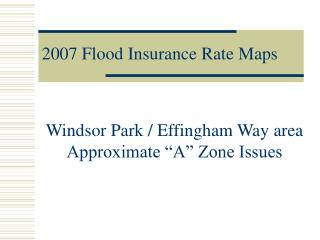 2007 Flood Insurance Rate Maps