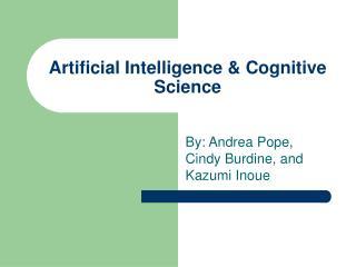 Artificial Intelligence & Cognitive Science