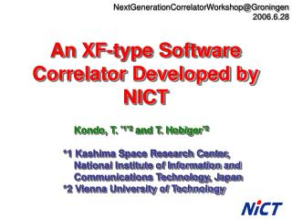 NextGenerationCorrelatorWorkshop@Groningen 2006.6.28