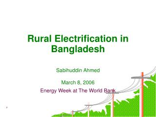 Rural Electrification in Bangladesh