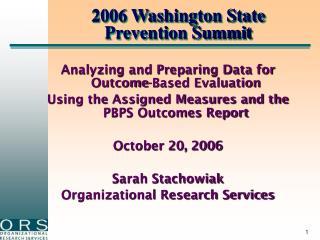 2006 Washington State Prevention Summit