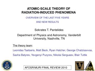 ATOMIC-SCALE THEORY OF RADIATION-INDUCED PHENOMENA