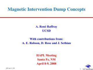 Magnetic Intervention Dump Concepts