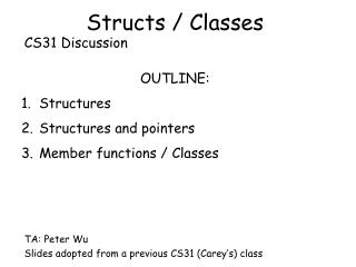 Structs / Classes