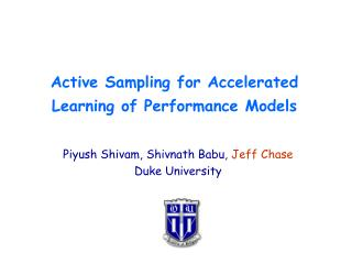Active Sampling for Accelerated Learning of Performance Models