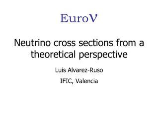 Neutrino cross sections from a theoretical perspective Luis Alvarez-Ruso IFIC, Valencia