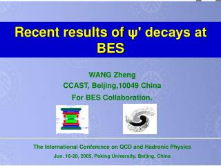Recent results of  ?' decays at BES