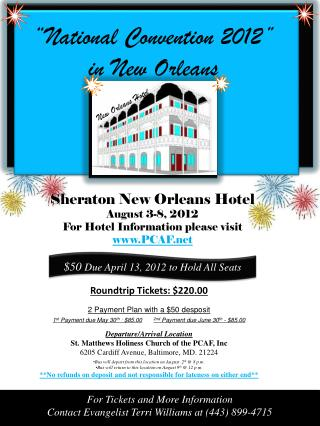 """National Convention 2012"" in New Orleans"