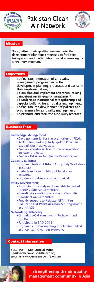 Knowledge Management Develop material for the promotion of PCAN;