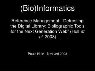 Paulo Nuin - Nov 3rd 2008