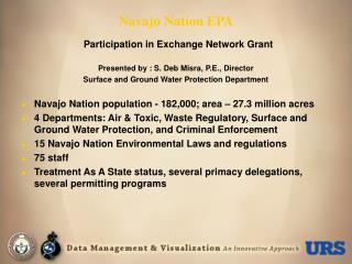 Navajo Nation EPA  Participation in Exchange Network Grant