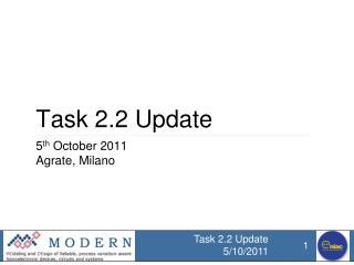 Task 2.2 Update