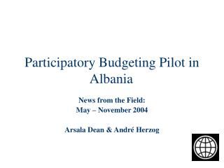 Participatory Budgeting Pilot in Albania