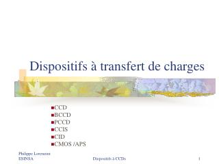 Dispositifs à transfert de charges