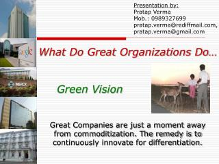 What Do Great Organizations Do… Green Vision