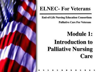 Module 1:   Introduction to Palliative Nursing Care