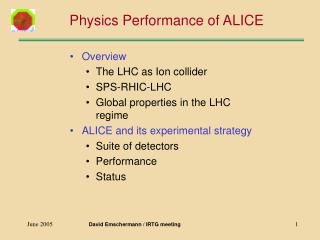 Physics Performance of ALICE