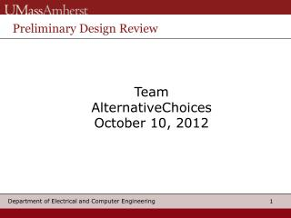 Team  AlternativeChoices October 10, 2012