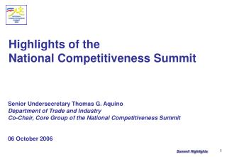 Highlights of the  National Competitiveness Summit