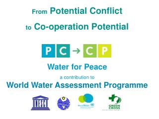 From  Potential Conflict  to  Co-operation Potential Water for Peace