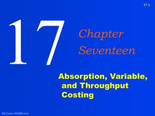 Absorption, Variable, and Throughput Costing