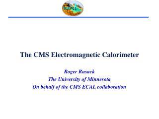 The CMS Electromagnetic Calorimeter