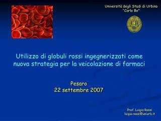 """Università degli Studi di Urbino """"Carlo Bo"""""""