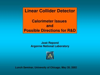 Linear Collider Detector Calorimeter Issues  and Possible Directions for R&D