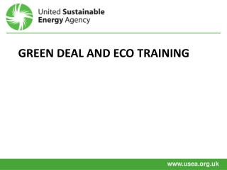 Green deal And ECO Training