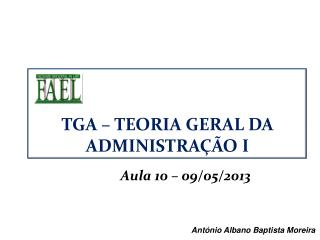 Aula 10 � 09/05/2013