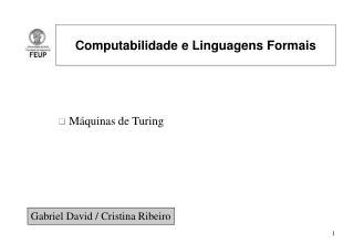 Computabilidade e Linguagens Formais