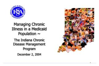 Managing Chronic Illness in a Medicaid Population ~