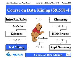 Course on Data Mining (581550-4)