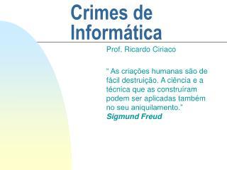 Crimes de Inform�tica