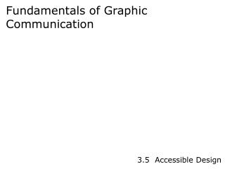Fundamentals of Graphic Communication