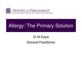 Allergy: The Primary Solution