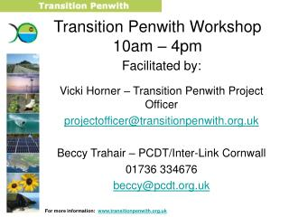 Transition Penwith Workshop 10am – 4pm