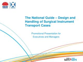 The National Guide – Design and Handling of Surgical Instrument Transport Cases