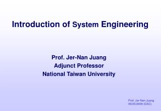 Introduction of  System  Engineering