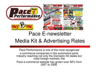 Pace E-newsletter Media Kit & Advertising Rates