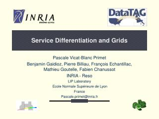 Service Differentiation and Grids