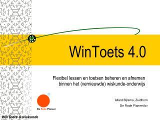 WinToets 4.0