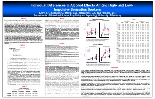 Individual Differences in Alcohol Effects Among High- and Low- Impulsive Sensation Seekers